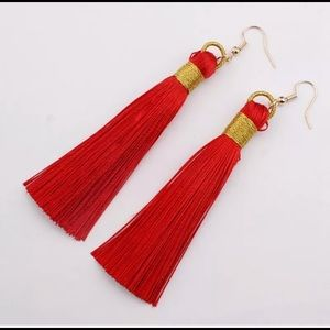 Jewelry - Tassel earrings new red light weight